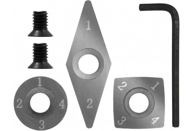 3 piece Carbide Mini Turning Tool Replacement Cutter Set - 7644