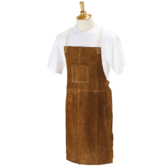 Wood Turners Leather Bib Apron - 24 inch x 42 inch 4379