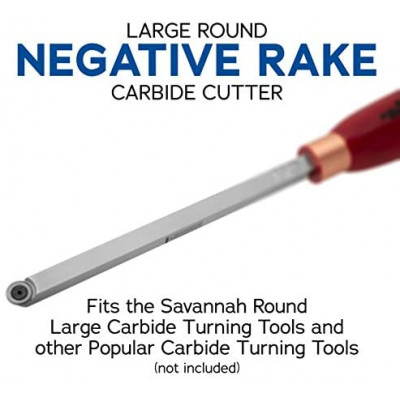Round Negative Rake Replacement Carbide Cutter