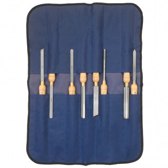 SAVANNAH HSS WOOD LATHE CHISEL SET, 8-PIECE SET with Storage Tool Roll