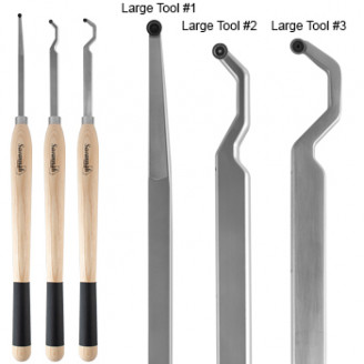 3 Piece Deluxe Large Hollowing Tool Set