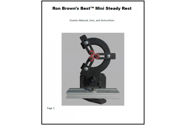 Mini Steady Rest Owners Manual instructions